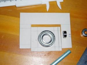型紙を作って細部の確認をします