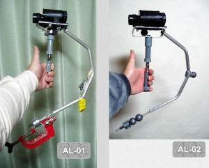 AL-01改良版AL-02(右)