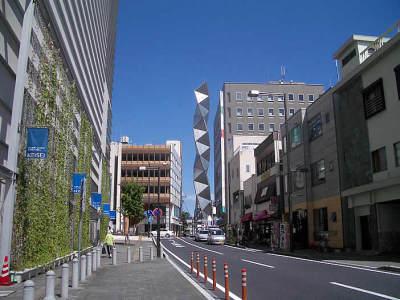 水戸京成からのアートタワー