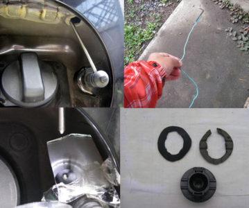 給油蓋ロックの修理